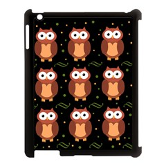 Halloween brown owls  Apple iPad 3/4 Case (Black)