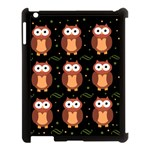 Halloween brown owls  Apple iPad 3/4 Case (Black) Front