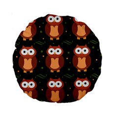Halloween brown owls  Standard 15  Premium Round Cushions