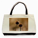 Withered Globe Thistle In Autumn Macro Basic Tote Bag