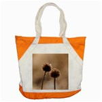 Withered Globe Thistle In Autumn Macro Accent Tote Bag