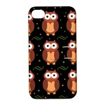Halloween brown owls  Apple iPhone 4/4S Hardshell Case with Stand