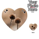 Withered Globe Thistle In Autumn Macro Playing Cards 54 (Heart)  Front - Club2