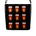 Halloween brown owls  Flap Messenger Bag (L)