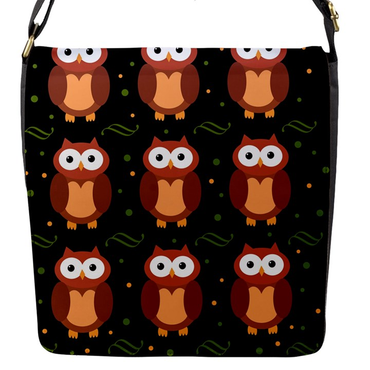 Halloween brown owls  Flap Messenger Bag (S)