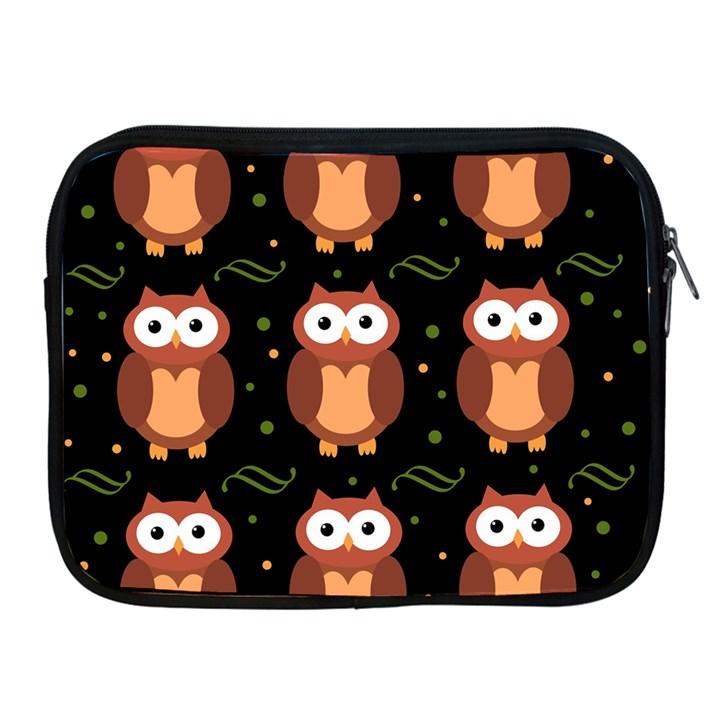 Halloween brown owls  Apple iPad 2/3/4 Zipper Cases