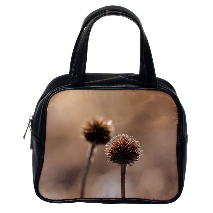 Withered Globe Thistle In Autumn Macro Classic Handbags (One Side)