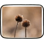 Withered Globe Thistle In Autumn Macro Fleece Blanket (Mini)