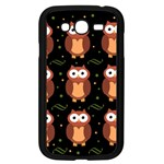 Halloween brown owls  Samsung Galaxy Grand DUOS I9082 Case (Black)