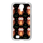 Halloween brown owls  Samsung GALAXY S4 I9500/ I9505 Case (White)