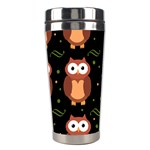 Halloween brown owls  Stainless Steel Travel Tumblers Right