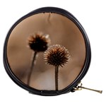 Withered Globe Thistle In Autumn Macro Mini Makeup Bags