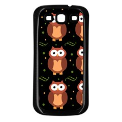 Halloween brown owls  Samsung Galaxy S3 Back Case (Black)