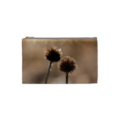 Withered Globe Thistle In Autumn Macro Cosmetic Bag (small)  by wsfcow