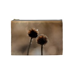 Withered Globe Thistle In Autumn Macro Cosmetic Bag (medium)  by wsfcow