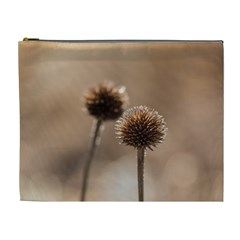 Withered Globe Thistle In Autumn Macro Cosmetic Bag (xl) by wsfcow