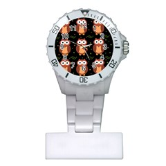 Halloween brown owls  Plastic Nurses Watch