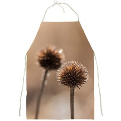 Withered Globe Thistle In Autumn Macro Full Print Aprons by wsfcow