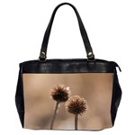 Withered Globe Thistle In Autumn Macro Office Handbags (2 Sides)