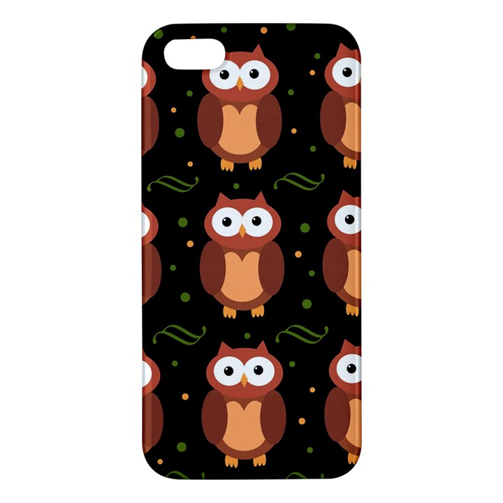 Halloween brown owls  iPhone 5S/ SE Premium Hardshell Case