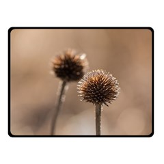 Withered Globe Thistle In Autumn Macro Fleece Blanket (small)