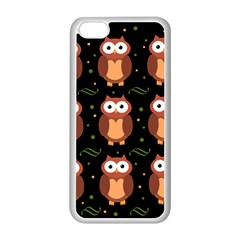 Halloween Brown Owls  Apple Iphone 5c Seamless Case (white) by Valentinaart