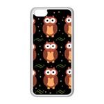 Halloween brown owls  Apple iPhone 5C Seamless Case (White)