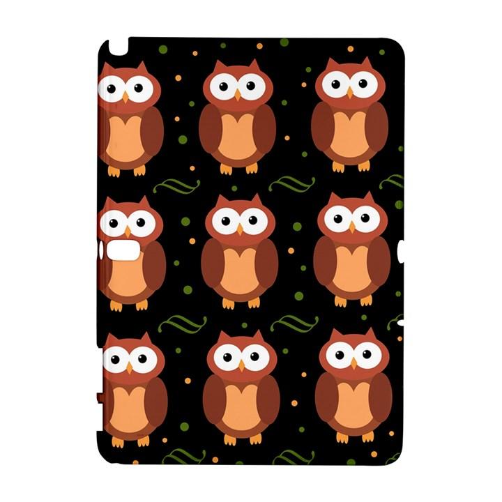 Halloween brown owls  Samsung Galaxy Note 10.1 (P600) Hardshell Case