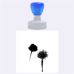 Withered Globe Thistle In Autumn Macro Rubber Round Stamps (large)