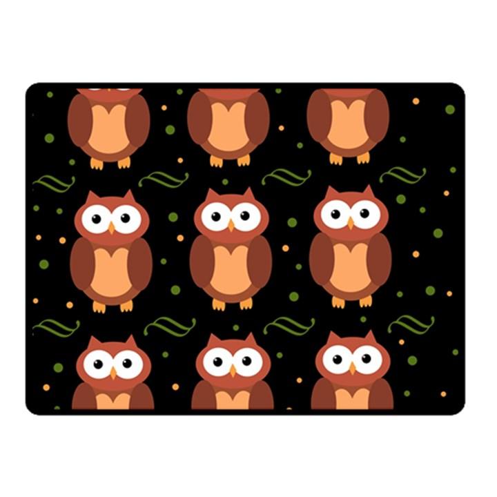 Halloween brown owls  Double Sided Fleece Blanket (Small)