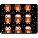 Halloween brown owls  Double Sided Fleece Blanket (Medium)  58.8 x47.4 Blanket Back