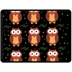 Halloween brown owls  Double Sided Fleece Blanket (Large)