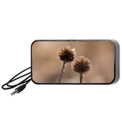 Withered Globe Thistle In Autumn Macro Portable Speaker (black)  by wsfcow
