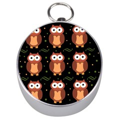 Halloween brown owls  Silver Compasses
