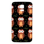 Halloween brown owls  Samsung Galaxy S5 Back Case (White)