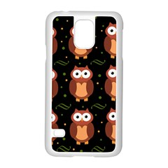 Halloween brown owls  Samsung Galaxy S5 Case (White)