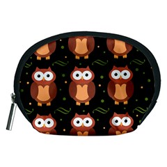 Halloween brown owls  Accessory Pouches (Medium)