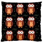 Halloween brown owls  Large Flano Cushion Case (Two Sides)