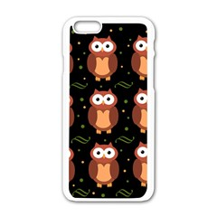 Halloween brown owls  Apple iPhone 6/6S White Enamel Case