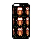 Halloween brown owls  Apple iPhone 6/6S Black Enamel Case