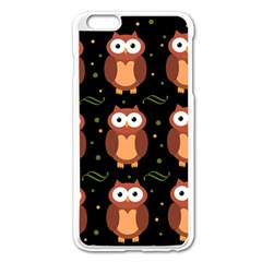 Halloween brown owls  Apple iPhone 6 Plus/6S Plus Enamel White Case