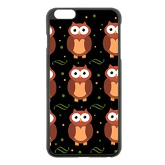 Halloween brown owls  Apple iPhone 6 Plus/6S Plus Black Enamel Case