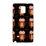 Halloween brown owls  Samsung Galaxy Note 4 Hardshell Case