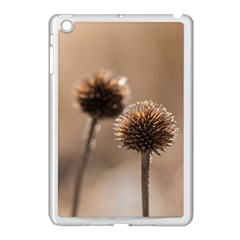 Withered Globe Thistle In Autumn Macro Apple Ipad Mini Case (white)