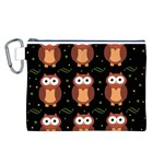 Halloween brown owls  Canvas Cosmetic Bag (L)
