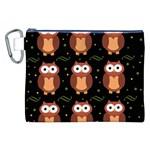 Halloween brown owls  Canvas Cosmetic Bag (XXL)