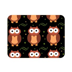 Halloween brown owls  Double Sided Flano Blanket (Mini)