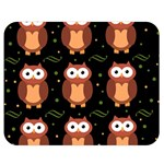 Halloween brown owls  Double Sided Flano Blanket (Medium)  60 x50 Blanket Front