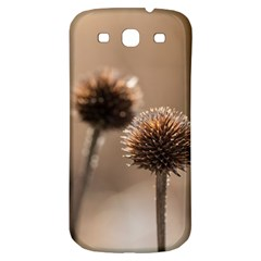 Withered Globe Thistle In Autumn Macro Samsung Galaxy S3 S Iii Classic Hardshell Back Case by wsfcow