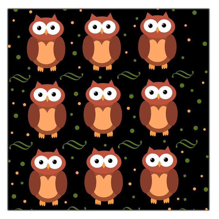 Halloween brown owls  Large Satin Scarf (Square)